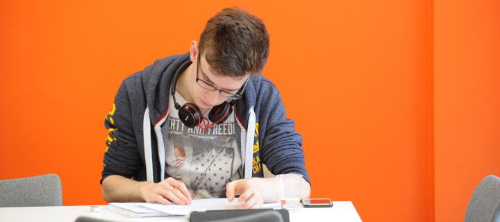 Image of a student studying in the MathsHub