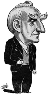 Cartoon of John Boyd Orr