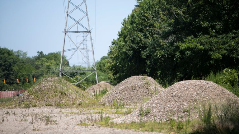 Mounds of rubble