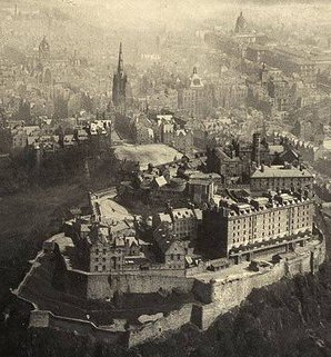 Aerial view of Edinburgh