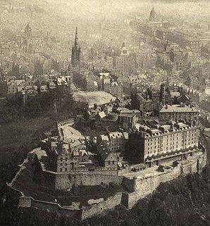 Aerial view of Edinburgh