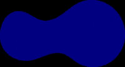 potato-like planar shape with distribution with a single hot spot