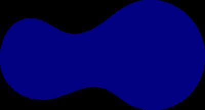 potato-like planar shape with uniform distribution