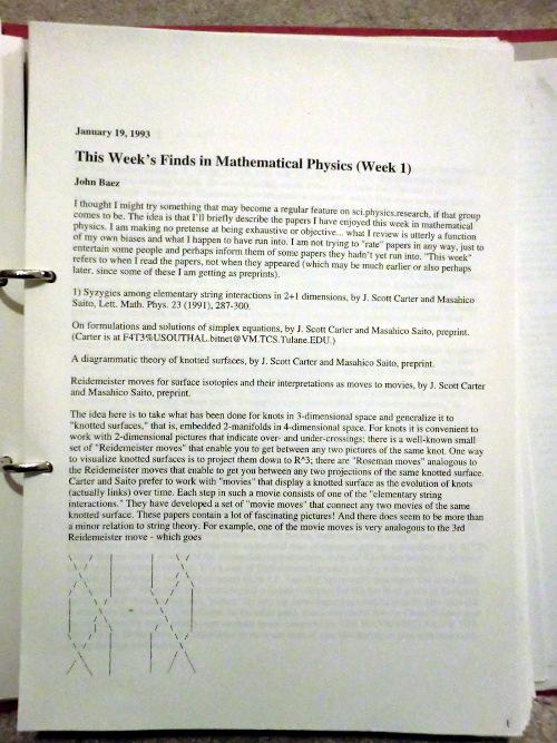 Printout of TWF1 in a ring-binder